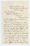 1864-02-13  Major Ellis Spear recommends William Griffin for 1st Lieutenant