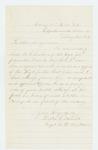 1864-02-14  Captain Walter G. Morrill recommends Lieutenant M. Sanborn for promotion