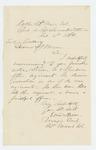 1864-02-16  Major Ellis Spear recommends 2nd Lieutenant M.C. Sanborn for promotion