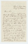 1864-02-17  George A. Frost recommends Lieutenant William W. Morrill for promotion