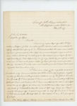 1864-02-19  Lieutenant Frederic W. Lane asks why William Griffin was recommended for promotion instead of himself