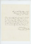 1864-02-23  Surgeon A.O. Shaw certifies that Lieutenant J. Nichols of Company K is disabled by varicose veins