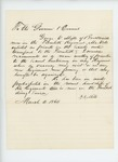 1864-03-04  P.B. Mills recommends George V. Mills of Brooksville for promotion to 2nd Lieutenant