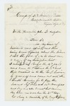 1864-04-16  Andrew O'Neil of Company B requests a copy of his descriptive list