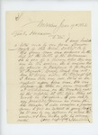1864-06-19  Isaac Reed requests that Leander Mank, wounded at the Battle of the Wilderness, be transferred to hospital at Augusta