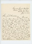 1864-07-22  Charles D. Gilmore inquires if a vacancy exists to promote Daniel Keene