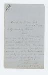 1864-08-24  Lieutenant A.E. Fernald requests a descriptive list for Joseph D. Gilbert