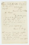 1864-08-25  Caroline Roney forwards husband David's company and regiment and inquires about state aid