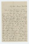 1864-09-03  John Lynes requests promotion of his son John Lynes, Jr.