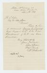 1864-09-09  Ellis Spear recommends David Overlock for promotion to 1st Lieutenant