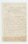 1864-10-17  Captain J. Land writes General Hodsdon about the death of Samuel Keene and James Horton