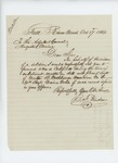 1864-10-27  B.F. Winslow requests enlistment, muster, and date of death on behalf of the widow of Martin B. Washburne, musician