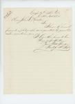 1864-10-31  Prentiss Fogler forwards his photograph to Adjutant General Hodsdon