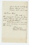1864-11-08  Charles Gilmore relays the regimental votes for President