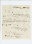 1865-02-14  Special Order 40 [handwritten] honorably discharging Lieutenant Arad Thompson for disability