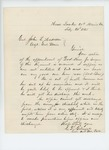 1865-02-20  Colonel Gilmore receives notice of appointment of Dr. True as surgeon