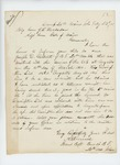 1865-08-23  Brevet Captain A.E. Fernald requests information on enlistment of Joseph D. Gilbert, Company F