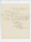 1865-02-23  Captain Land sends order regarding Lieutenant Colonel Gilmore and Surgeon A.O. Shaw