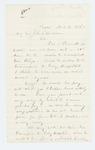 1865-03-02  Josiah Crosby writes on behalf of Eli L. Prescott of Dexter who wishes to be transferred to Cony Hospital