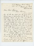 1865-03-16  Charles Gilmore writes Governor Cony about his discharge and requests no promotions be made until he is out of service
