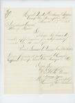 1865-03-17  Major Dunn requests muster certificate for Private Sumner Warner, Company B