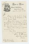 1865-03-25  Adjutant General Hodsdon replies to E.H. Ellenwood regarding Frank L. Simpson
