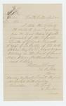 1865-04-25  William Calef [Califf?] requests an official report regarding the death of Private Samuel Calef [Califf], Company D