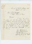 1865-04-28  Captain R.B. Plummer requests descriptive list, pay and clothing account and any other information regarding Charles W. London, a substitute