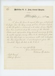 1865-06-26  William Hodsdon requests mustering out information so that he may be discharged from the Veteran Reserve Corps