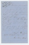 1865-07-11  Samuel Rockwell inquires about the whereabouts of his nephew Joseph Burmingham