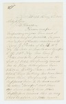 1865-08-08  Dr. A. Backus requests information whether Benjamin G. Foster, Company B, survived imprisonment in Libby Prison