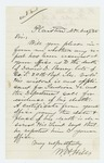 1865-12-09  W.H. Hills requests evidence of the death of David Roney on behalf of his widow Caroline