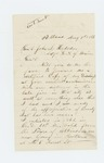 1866-08-01  Joseph Walker, Jr. requests a copy of his discharge papers