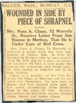 Roscoe M. Chase Newspaper Clipping 3, Malden, MA