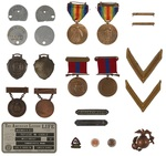 Roscoe M. Chase's Personal Military Dog Tags, Awards, Patches, and Pins Collection