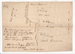Plan of roads near Spring Brook in Camden, May 1808 by Hosea Bates