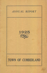 Town of Cumberland, Maine, Annual Report 1925