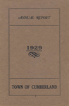 Town of Cumberland, Maine, Annual Report 1929