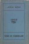 Town of Cumberland, Maine, Annual Report 1933