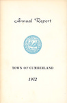 Town of Cumberland, Maine, Annual Report 1972