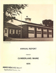 Town of Cumberland, Maine, Annual Report 1974