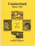 Town of Cumberland, Maine, Annual Report 1992 by Cumberland (Me.)