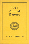 Town of Cumberland, Maine, Annual Report 1954