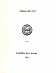 Town of Cumberland, Maine, Annual Report 1981