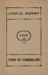 Town of Cumberland, Maine, Annual Report 1916