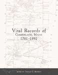 Vital Records of Cumberland, Maine 1701-1892 by Thomas C. Bennett
