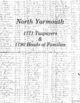 North Yarmouth 1771 Taxpayers and 1790 Heads of Families by Thomas C. Bennett