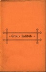 Catalogue and Circular of Greely Institute 1894–95