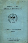 Bulletin of Greely Institute 1928–29