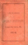 Catalogue and Circular of Greely Institute 1880–81
